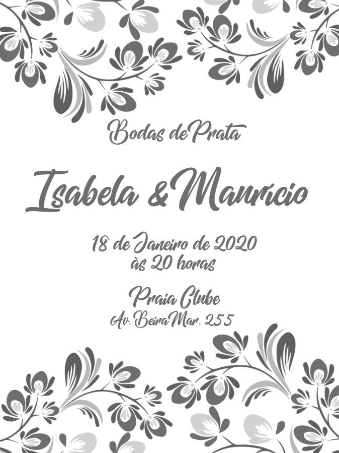 Silver Wedding Invitation