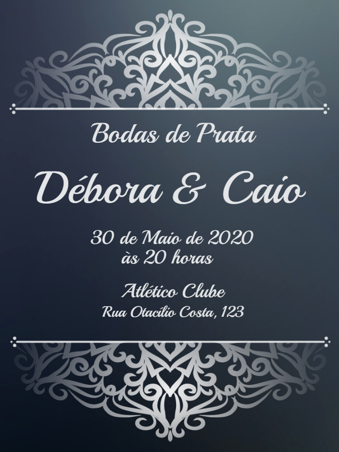 Silver Wedding Invitation