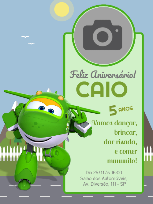 Super Wings Birthday Invitation