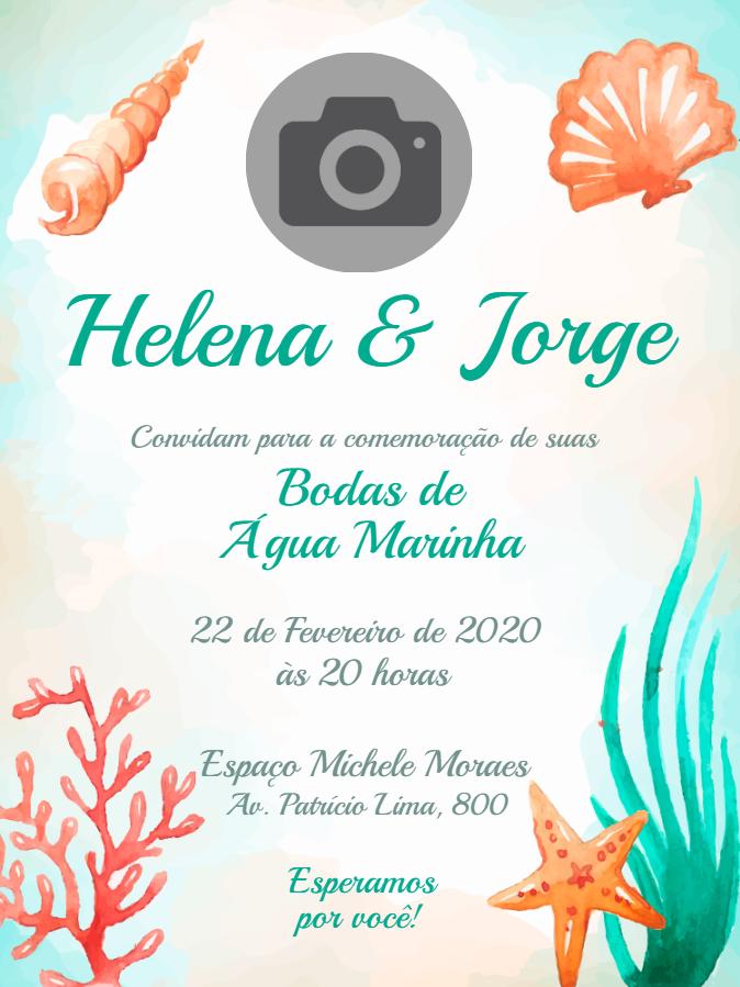 Aquamarine Wedding Invitation