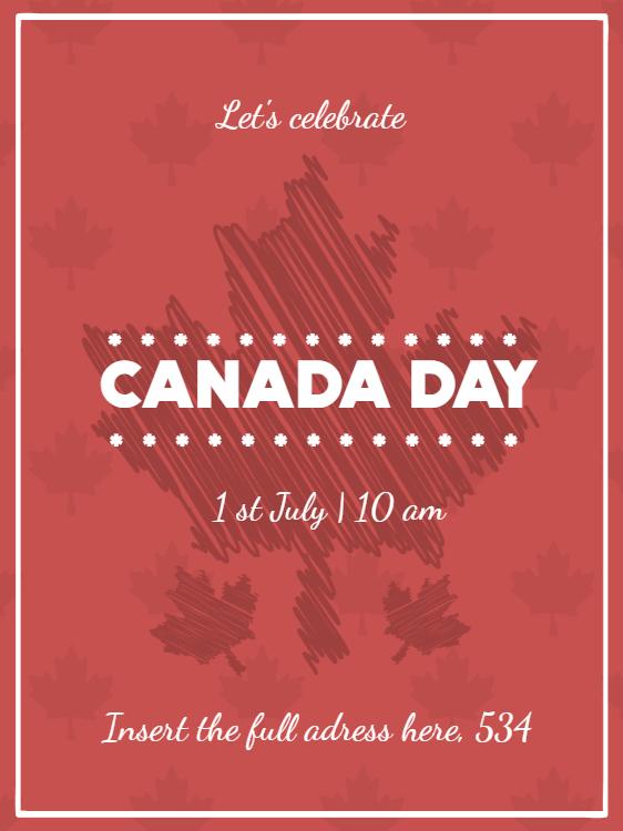 Canada Day Celebration Invitation