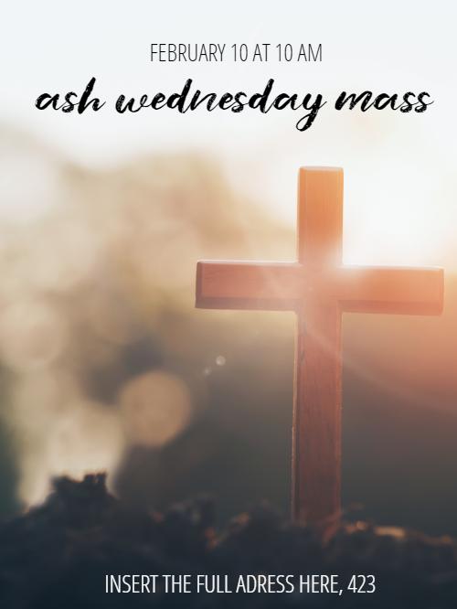 Ash Wednesday Invitation