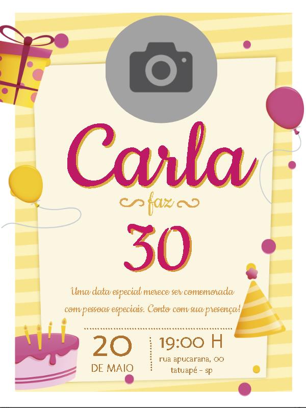 Delicate Birthday Invitation