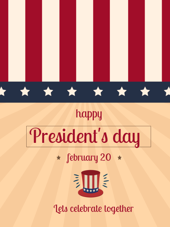 Presidents Day Celebration Invitation