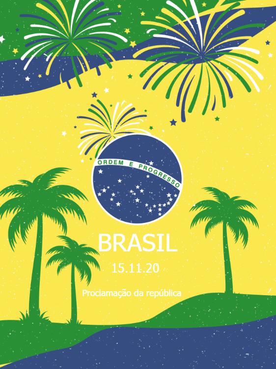 Brazil Proclamation Card