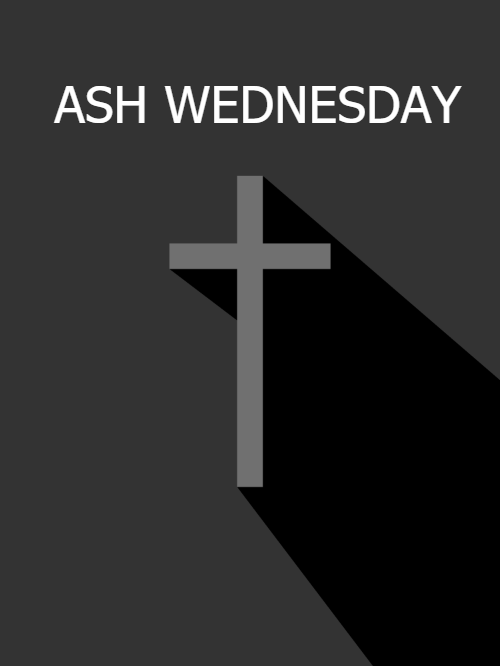 Religious Ash Wednesday Card