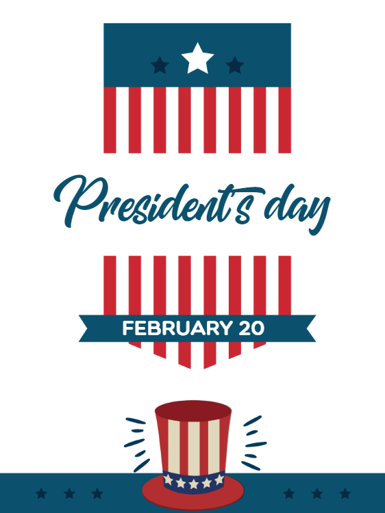 Presidents Day Celebration Invitation