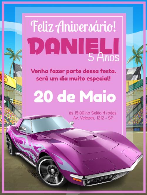 Hot Wheels Birthday Invitation