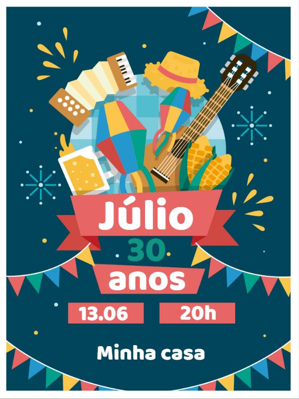 Saint John themed Birthday Invitation