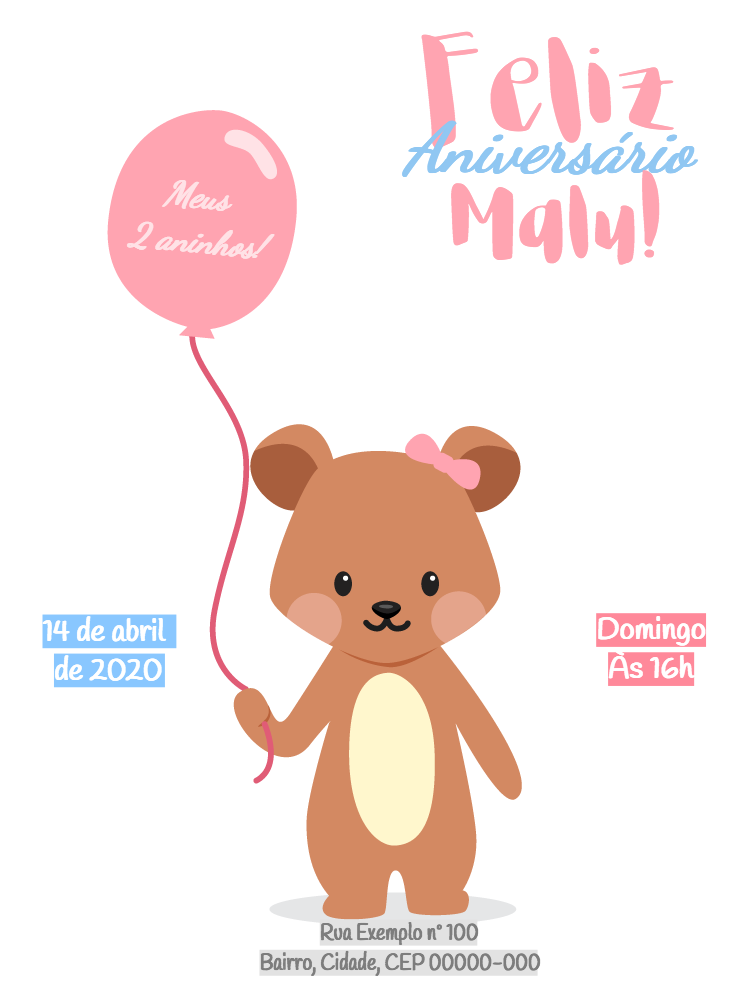 Bear Birthday Invitation