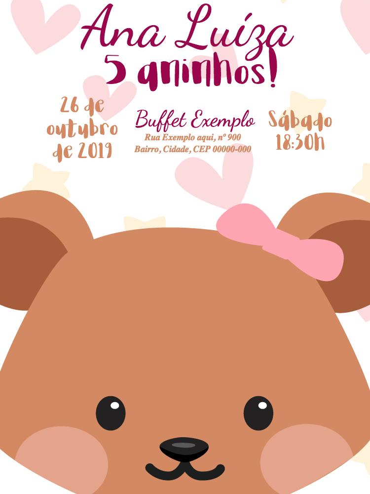 Bear Birthday Invitation