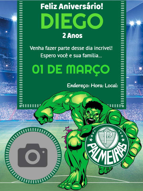Birthday Invitation Football Team Palmeiras