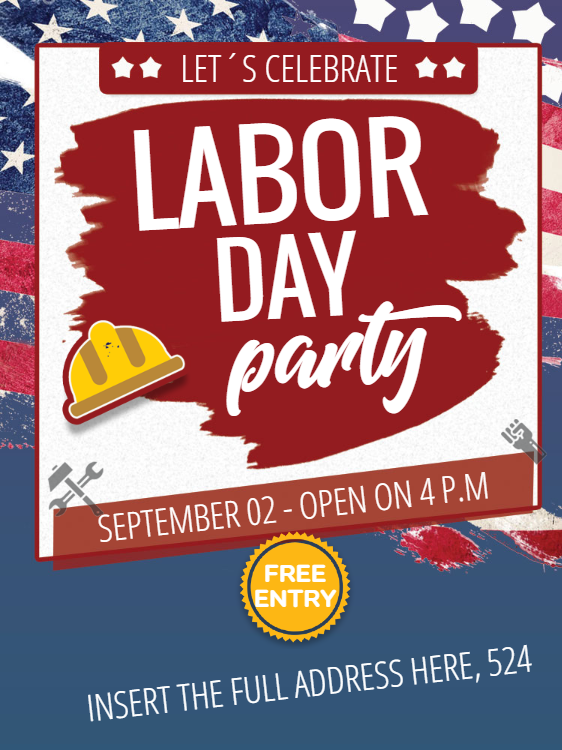 Labor Day Invitation Card