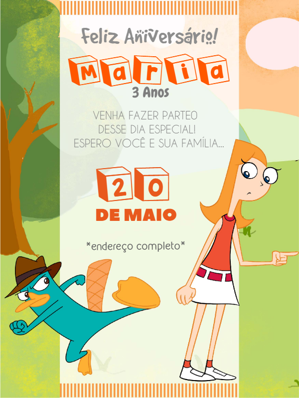 Phineas and Ferb Birthday Invitation