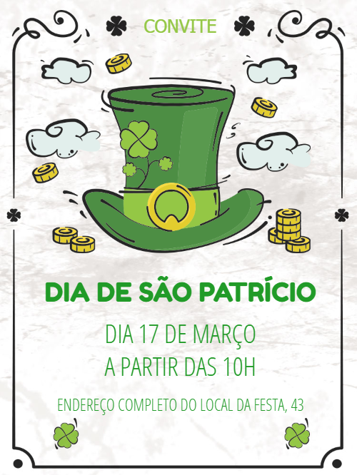 St. Patrick's Day Event Invitation