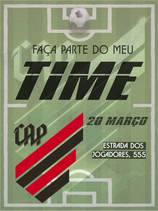 Birthday Invitation Football Atletico Paranaense