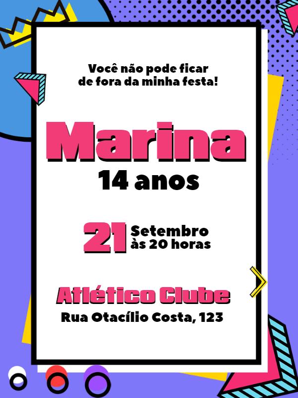Birthday Invitation Pop Art