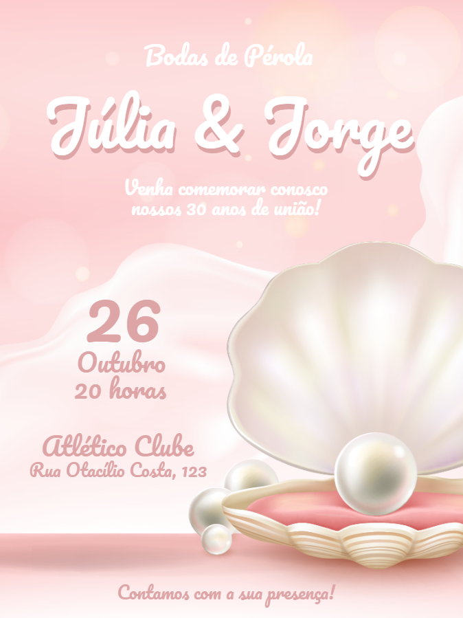 Pearl Wedding Invitation