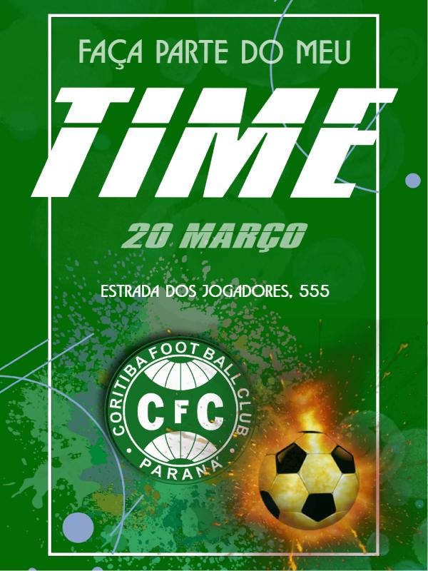 Curitiba Football Birthday Invitation