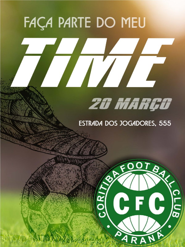 Curitiba Football Birthday Invitation