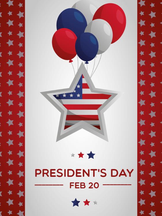 American Presidents Day Celebration Invitation