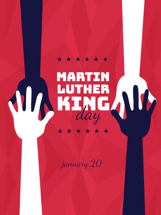 Martin Luther King Day Holiday Card