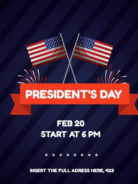 Invito alla celebrazione del giorno dei presidenti...