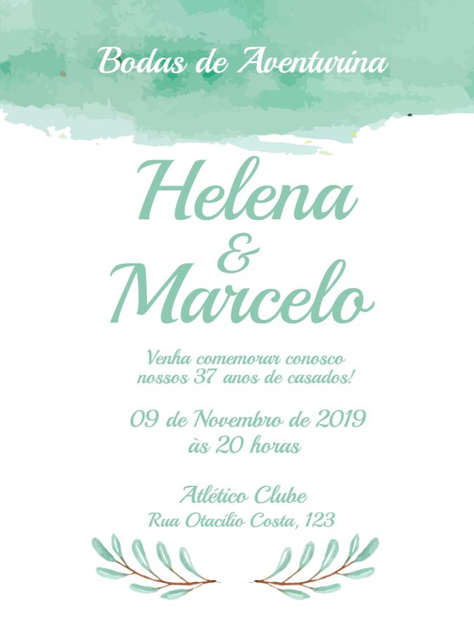 Aventurine Wedding Invitation