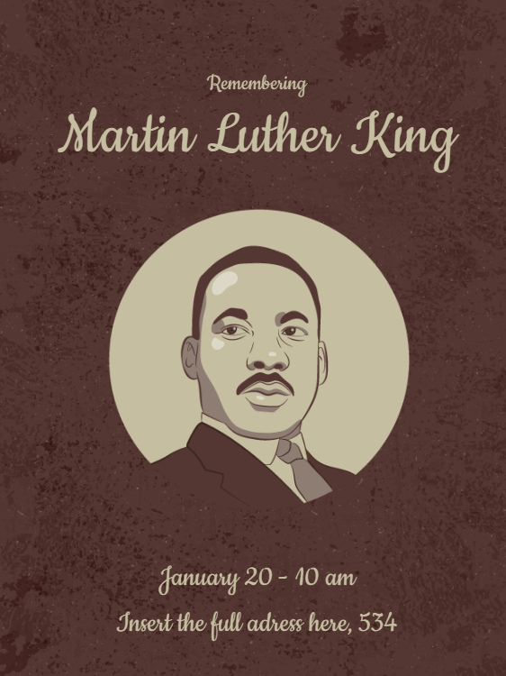 Martin Luther King National Commemoration Card