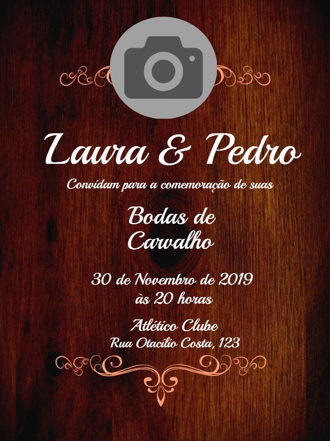 Oak Wedding Invitation