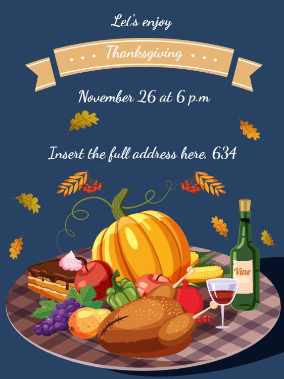 Thanksgiving Dinner InvitationThanksgiving