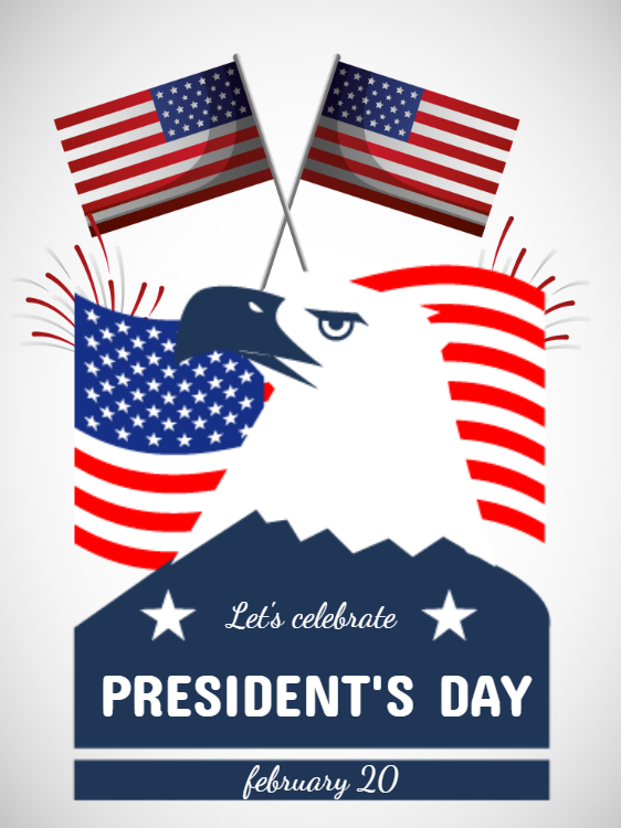 American Presidents Day Celebration Invitation
