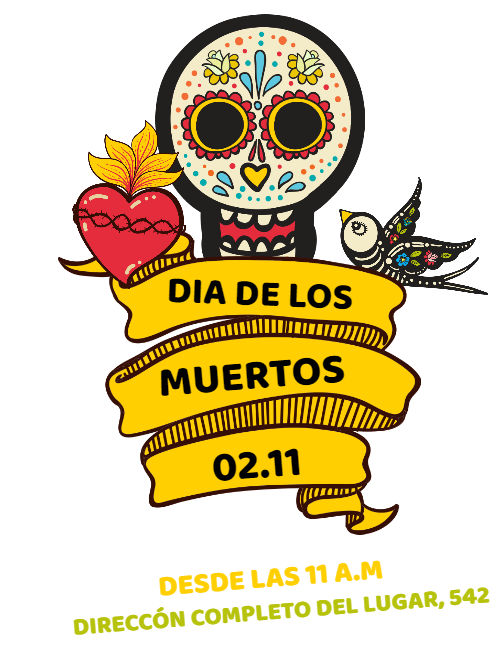 Invitation Card Day of the Dead