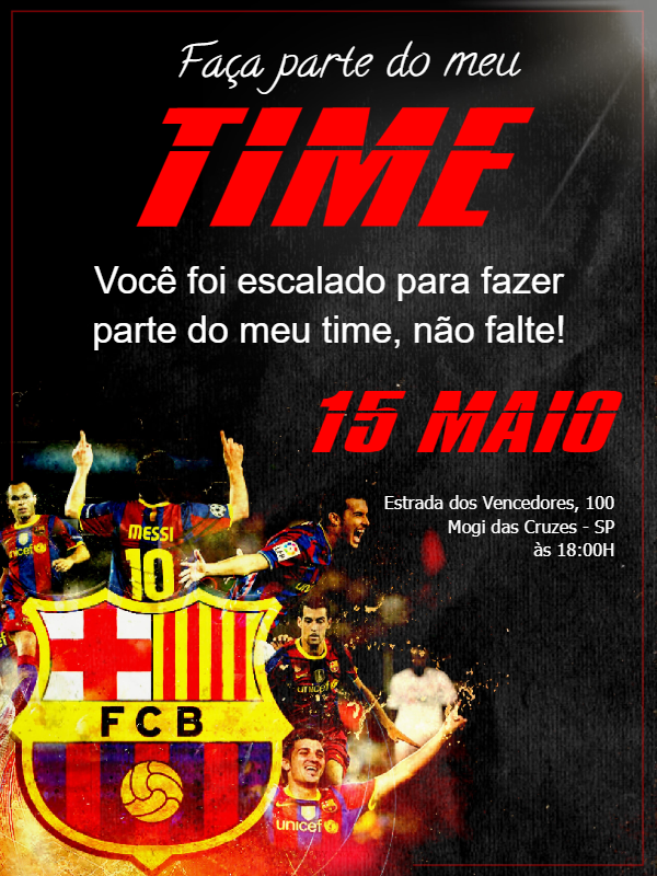 Time Barcelona Birthday Invitation