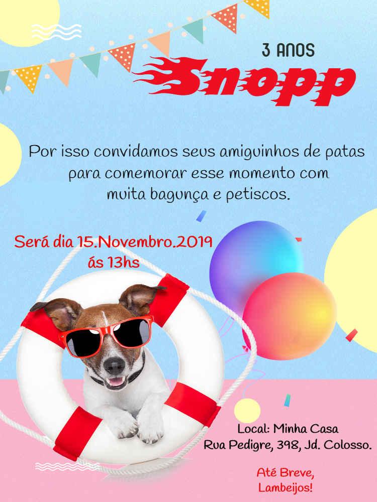 Pets Birthday Invitation