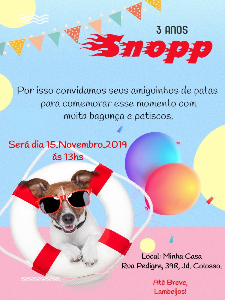 Pets Birthday Invitation