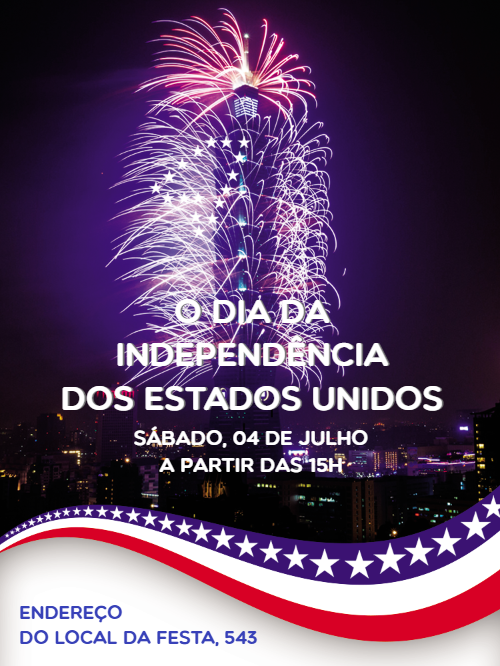 Independence Day Invitation Card