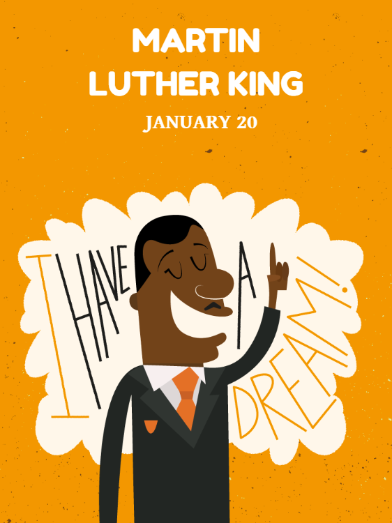 Martin Luther King National Holiday Card