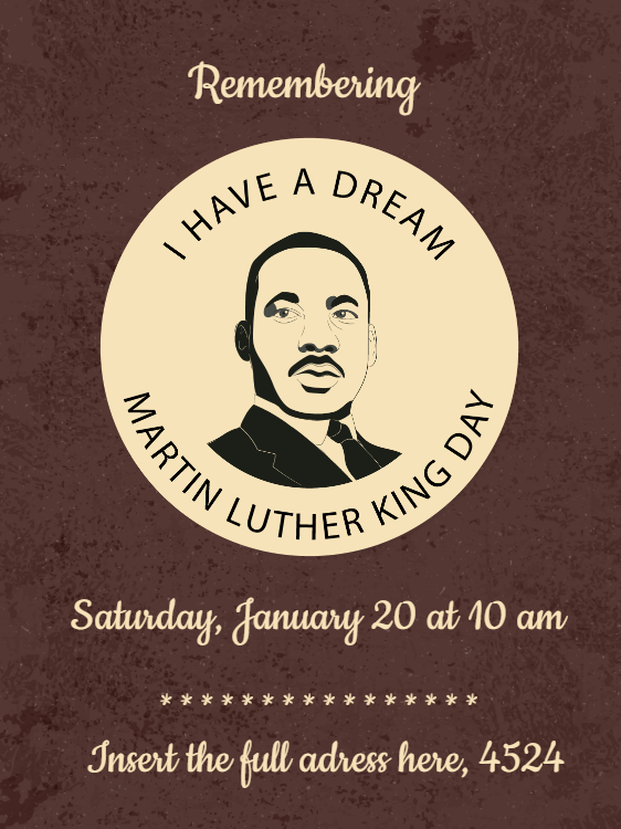 Martin Luther King National Day Card