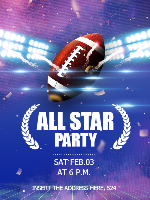 All Star Invitation Card