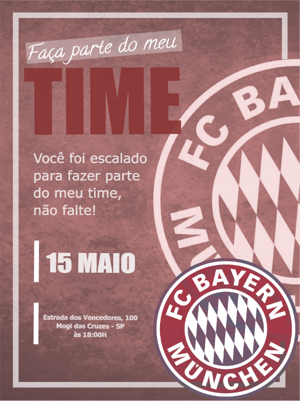Bayern Football Birthday Invitation