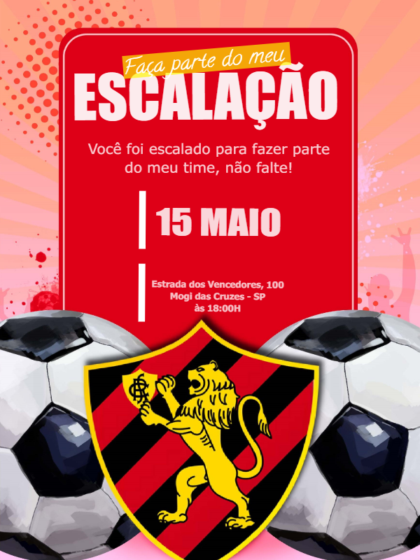 Time Sport Club Birthday Invitation