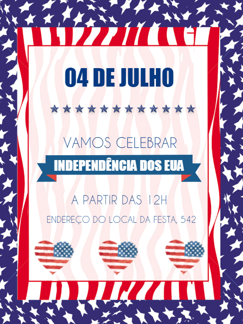 USA Independence Invitation Card