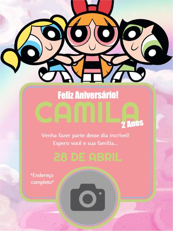 Super Power Girls Birthday Invitation