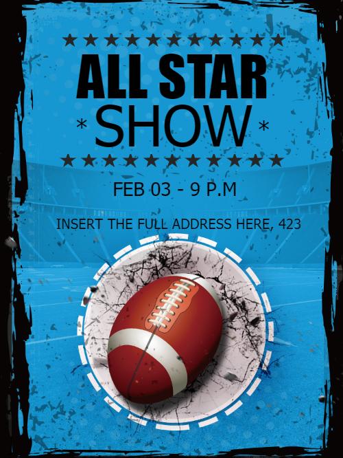 All Star Invitation Card