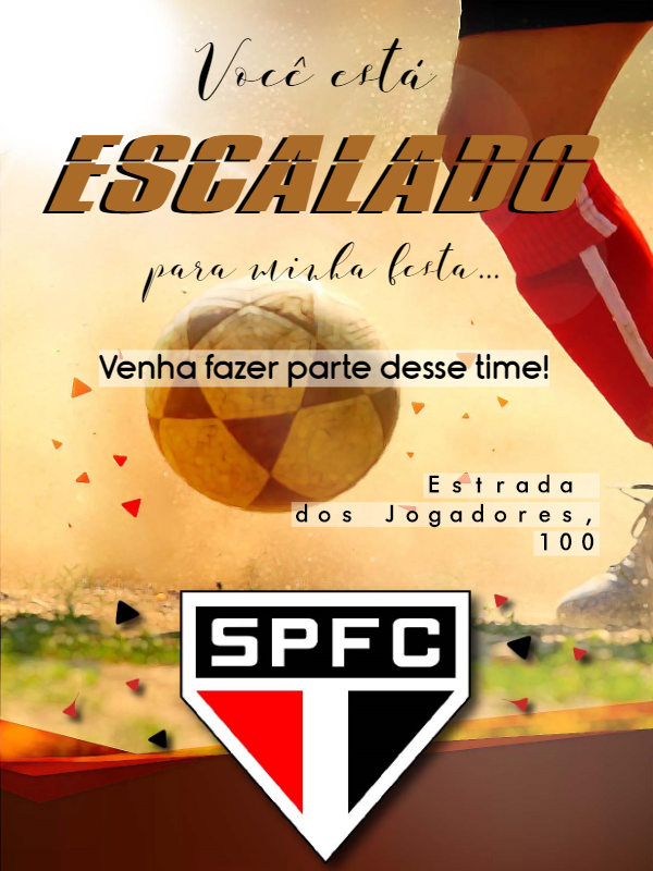 Birthday Invitation Football Club Sao Paulo