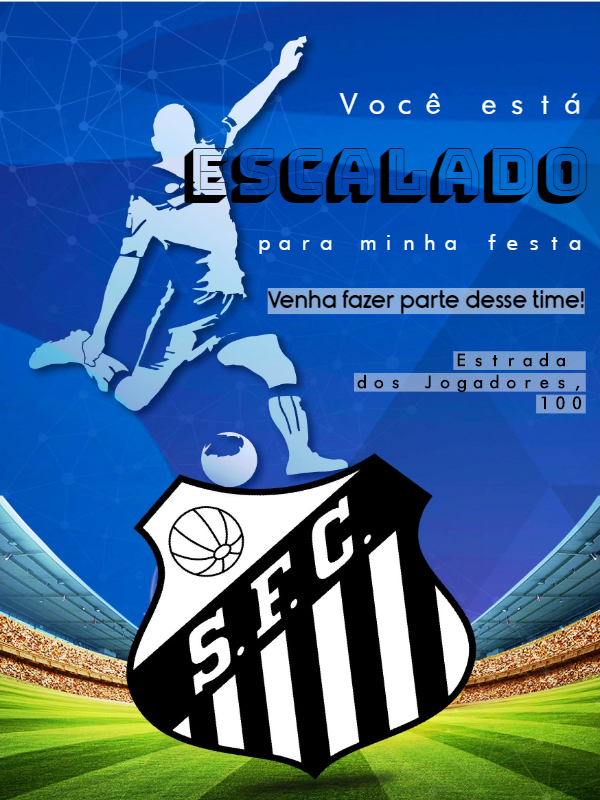 Santos Football Birthday Invitation