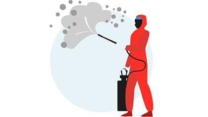 Constante limpieza y desinfección