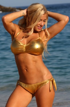 24 Karat Gold Sunset Bikini