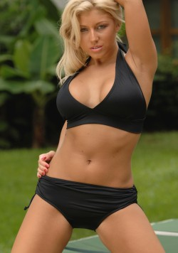 Figure Shaper Halter Top and High Sliding Bottom Bikini